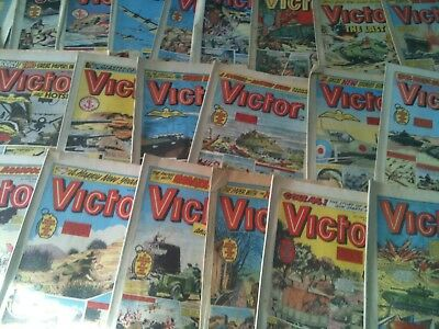 uk comics victor job lot x 26 1970s
