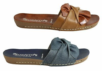 New Andacco Maze Womens Comfortable Leather Slide Sandals Made In Brazil