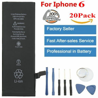 20X OEM Apple Genuine Internal Battery Replacement for iPhone 6 1810mah + Tool