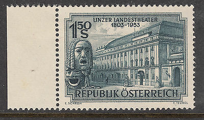AUSTRIA 1953 Linz National Theatre MVLH With Margin