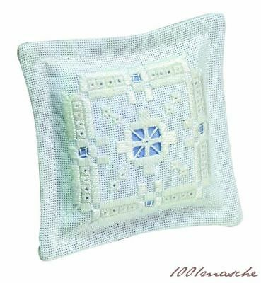 Permin Embroidery Package Hardanger Pin Cushion III White Cotton Fixpackung