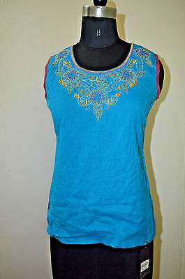 Blue berry Womens  India Ethnic BLUE Girls Choli Tunic Kurta Top M