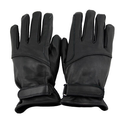 Western Memory Leather Western Biker Riding Gloves Black S to 2XL