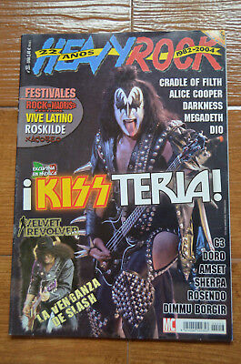 Heavy Rock Magazine Spain Issue 253 - September 2004 KISS Gene Simmons Doro Dio
