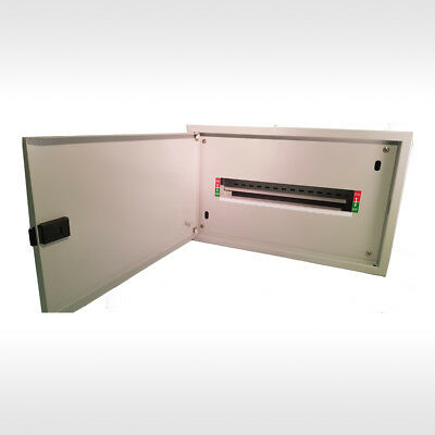 Steel Enclosure SwitchBoard-Distribution Box-Dinrail 1x16 Pole- MCB RCD