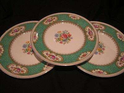 EMPIRE ENGLISH CHINA   THREE DINNER PLATES IN MAJESTIC 1930/ 50's