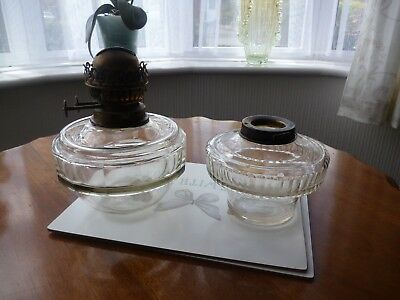 2 Glass Drop In Oil Lamp Fonts