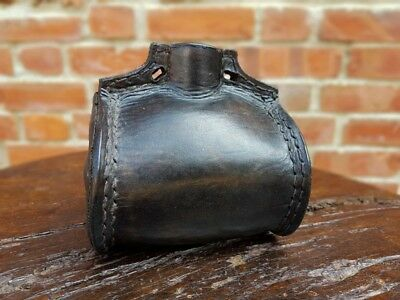 Complete George III Period Late 18th Century English Antique Leather Costrel