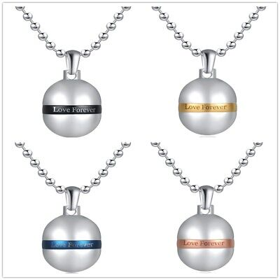Stainless Steel Pendant Refillable for Perfume Ash ect. incl. Necklace 60cm