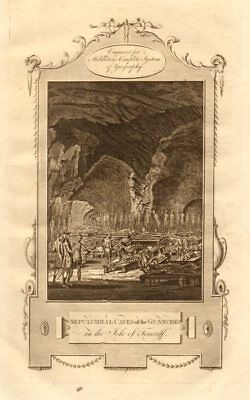 """Sepulchral caves of the Guanches… Isle of Teneriff"". Tenerife. MIDDLETON 1779"