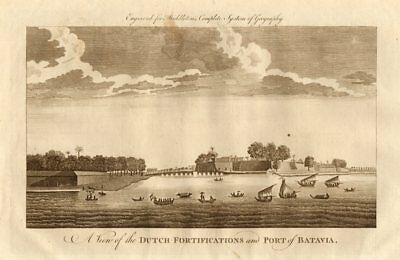 """The Dutch fortifications & port of Batavia"". Jakarta, Indonesia. MIDDLETON 1779"