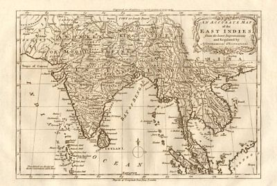 """An accurate map of the East Indies…"" South Asia & Indochina. MIDDLETON 1779"