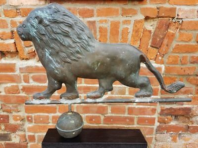 Large Late 19th Century Antique Folk Art Weathervane in the Form of a Lion