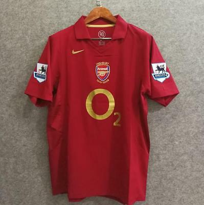 Maglia Jersey ARSENAL Home Stagione 2005/2006 #14 HENRY #10 BERGKAMP