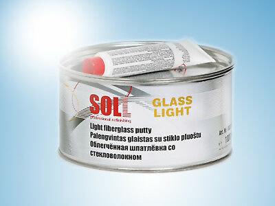 SOLL GLASS Light weight fiberglass easy to sand putty color green 1kg/35.27oz