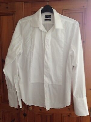 DEBENHAMS BLACK TIE SHIRT FOR THE TUXEDO In WHITE. COLLAR 16 Inches Tailored Fit