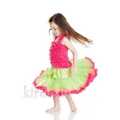 Girls Two Tone Pettiskirt Xmas Halloween Easter Birthday Tutu