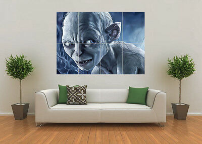Gollum Lord Of The Rings Lotr Hobbit Nz Giant Wall Art Poster Print