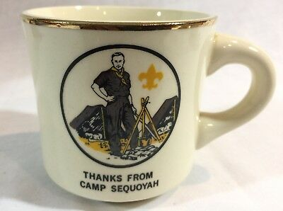 Vintage Boy Scout BSA Thanks From Camp Sequoyah Coffee Cup Mug
