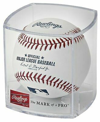 (12) Rawlings Official Major League Game Baseball ROMLB Manfred Cubed - Dozen