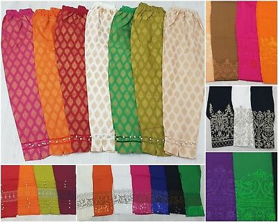 Asian Indian Pakistani Readymade Buttons Embroidery Pants / Cigarette Trousers