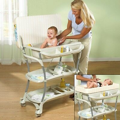 Baby Bath Tub With Stand.Euro Spa Baby Bath Tub And Changing Table Primo Long Drain