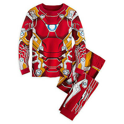 NWT Disney Store Iron Man Costume PJ Pal Marvel's Avengers Age of Ultron 5,10