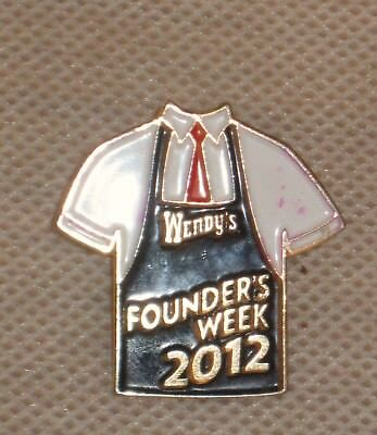 Wendy's Fast Food Restaurant Founder's Week 2012 Pin Pinback Rare,Hard To Find