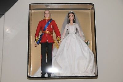 WILLIAM AND CATHERINE ROYAL WEDDING Barbie Gold Label collection BNB