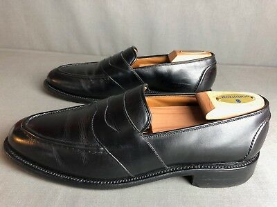 a6e9dccba67  425 ALLEN EDMONDS Randolph Black Full Strap Penny Loafers Shoes 8.5 ...