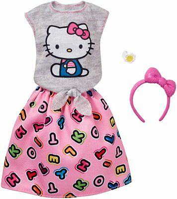 Barbie Fashions Hello Kitty Gray Top & Pink Skirt