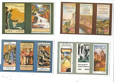 A Dalkeith Set Of 6 Postcards  L.m.s. & L.n.e.r.  For Scotland  Publicty