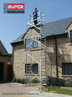 Super DIY Up to 7.2m Aluminium Scaffold Tower - 1m frames - One man Tower