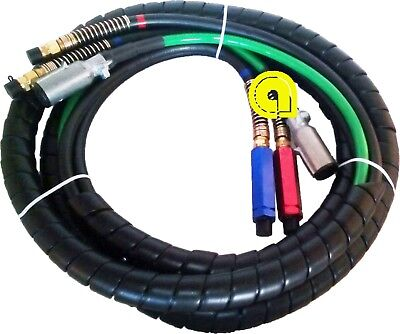 Air Hose, ABS 3 in one, cable set 15ft 4x12, 2x10 & 1x8 GAUGE Cable Set H-70303