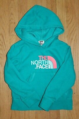 North Face Hoodie Teal pink aqua XS (6) Girls The North Face sweatshirt