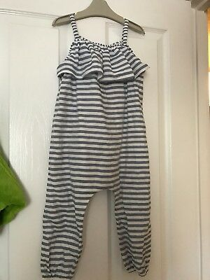 Next Jumpsuit Blue and white striped 2-3 Years Girls