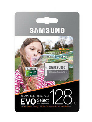 Samsung 128GB Micro SD XC Flash Memory Card Class 10 for Phone Camera Mp3