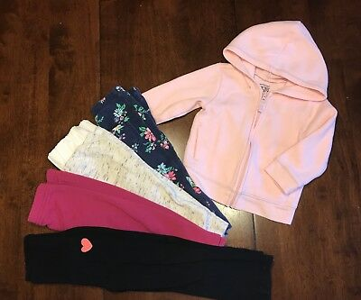 Lot Of 5 Baby Girls Clothing Items: 12 Months