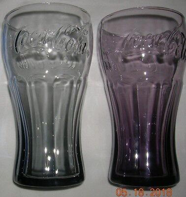Mcdonalds Coca Cola Libbey Contour Coke Drinking Glasses Tumblers Multiples Avlb