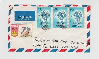 Ghana Rabbits or Hares along with Babies on Cover addressed to UK