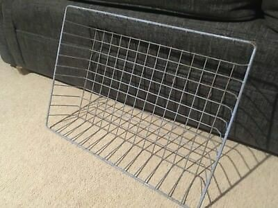 Vintage metal  wire tray for office desk