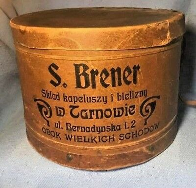 VINTAGE 1915 to 1925 hat box from Poland