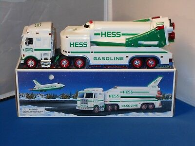1999 Hess Toy Truck & Space Shuttle With Satellite In Original Box! Tested&Works