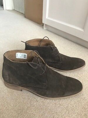 Men's River Island Brown Suede Desert lace up boots UK 10 / 44 EU - Bradio 2