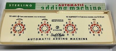 "Vintage Sterling ""Add-It"" Automatic Adding Machine No  565 with Box & Stylus"