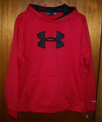 Boy's Under Armour Red Hoodie Loose Storm Youth Xl