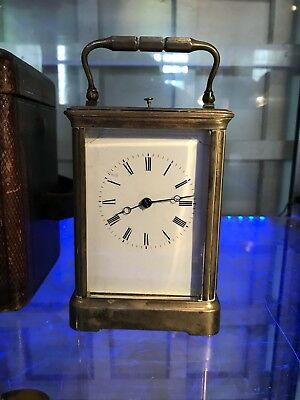 Late 19th / Early 20 Th Century Brass Repeating Carrage Clock