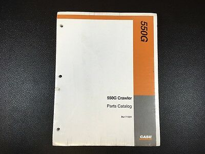 Original CASE 550G Crawler Tractor Parts Catalog - Dealer Factory Sealed