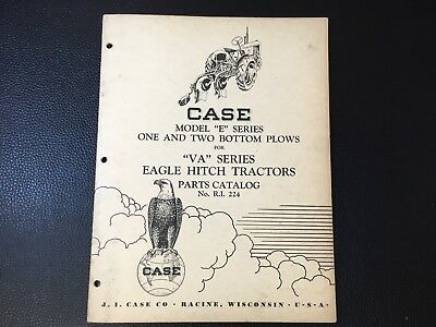 "Original CASE Model ""E"" Series Plow for VA Series Tractor Dealer Parts Catalog"