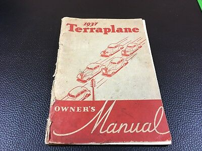 1937 -  Terraplane  - Owner's Manual Guide Book - Car